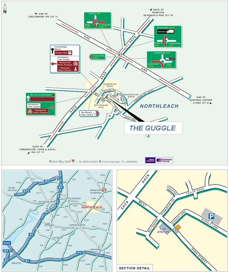 Directions Map on